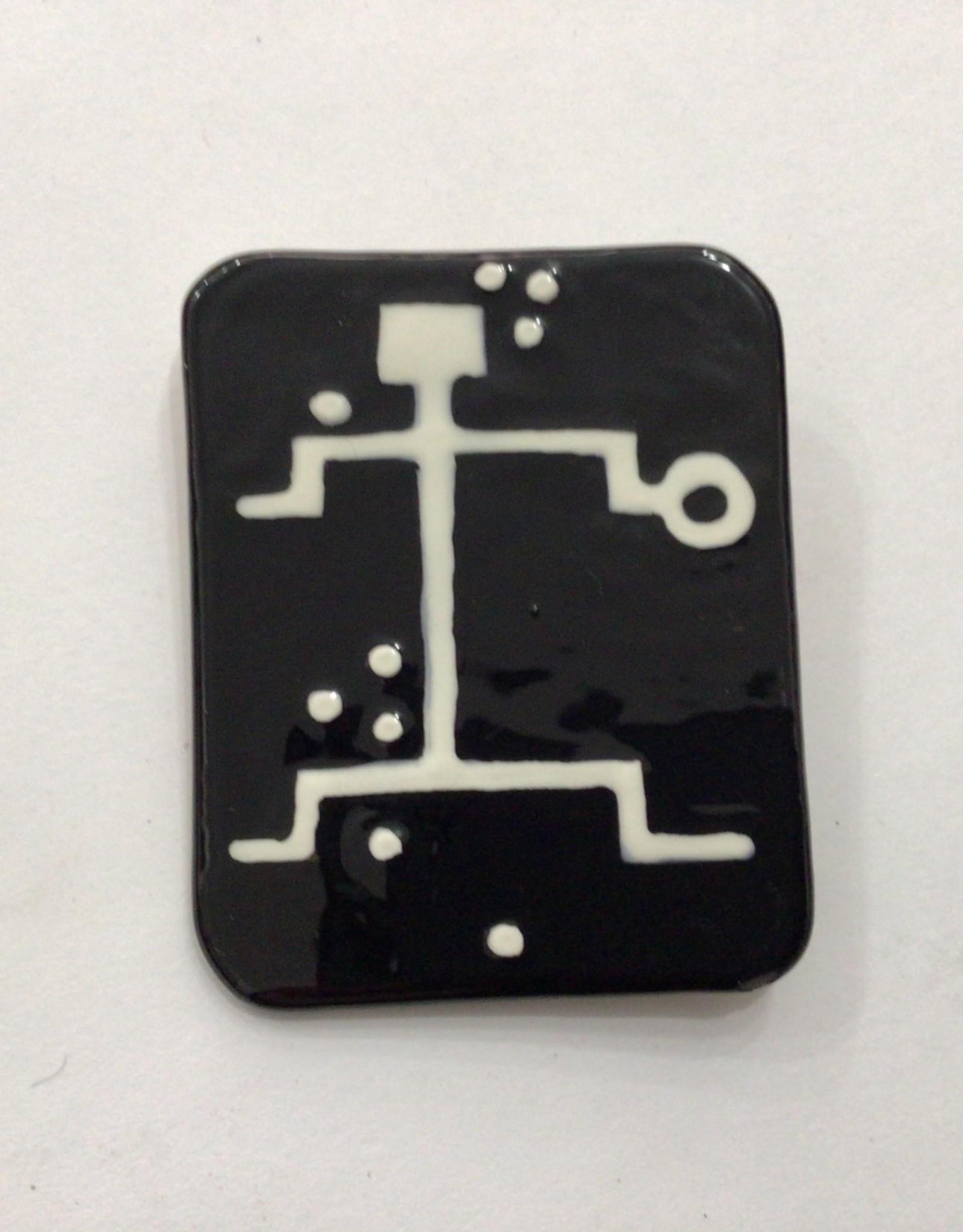 black ceramic pin