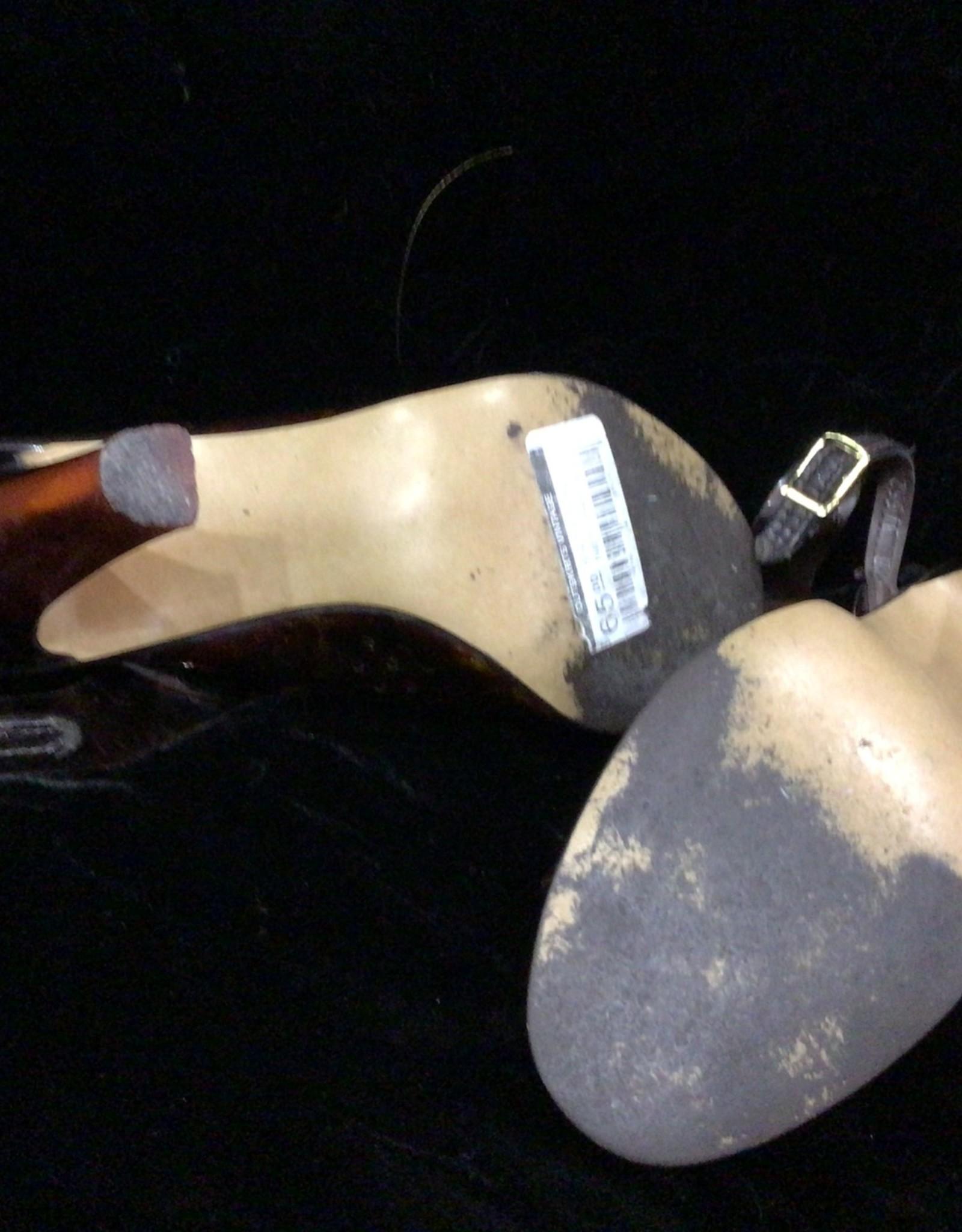 Nanette Imperials 60s/70s amber plastic heels sz 7.5
