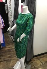 Green floral dress w/ belt