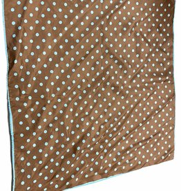 Fashion scarf brown with blue polka dots