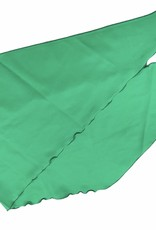 Fashion scarf green with scalloped edge