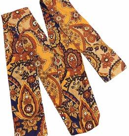 Fashion scarf orange with floral detail