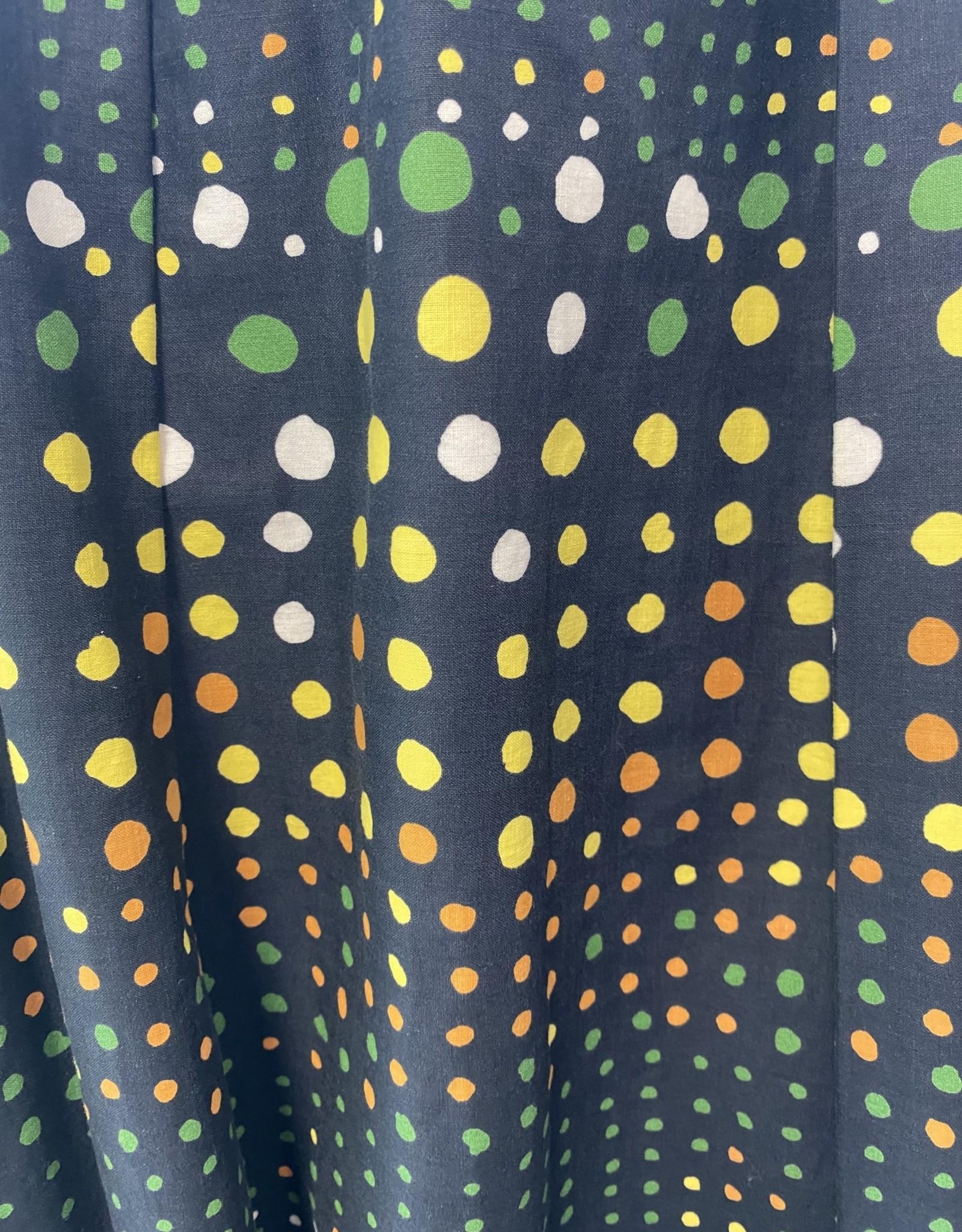 50s black w/ polka dots &  jewel collar detail