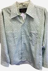 Permaprest 1970s green shirt 15.5x33