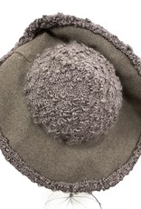 60s Grey brim hat homemade