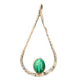 sterling & malachite pendant