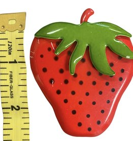 metal strawberry pin