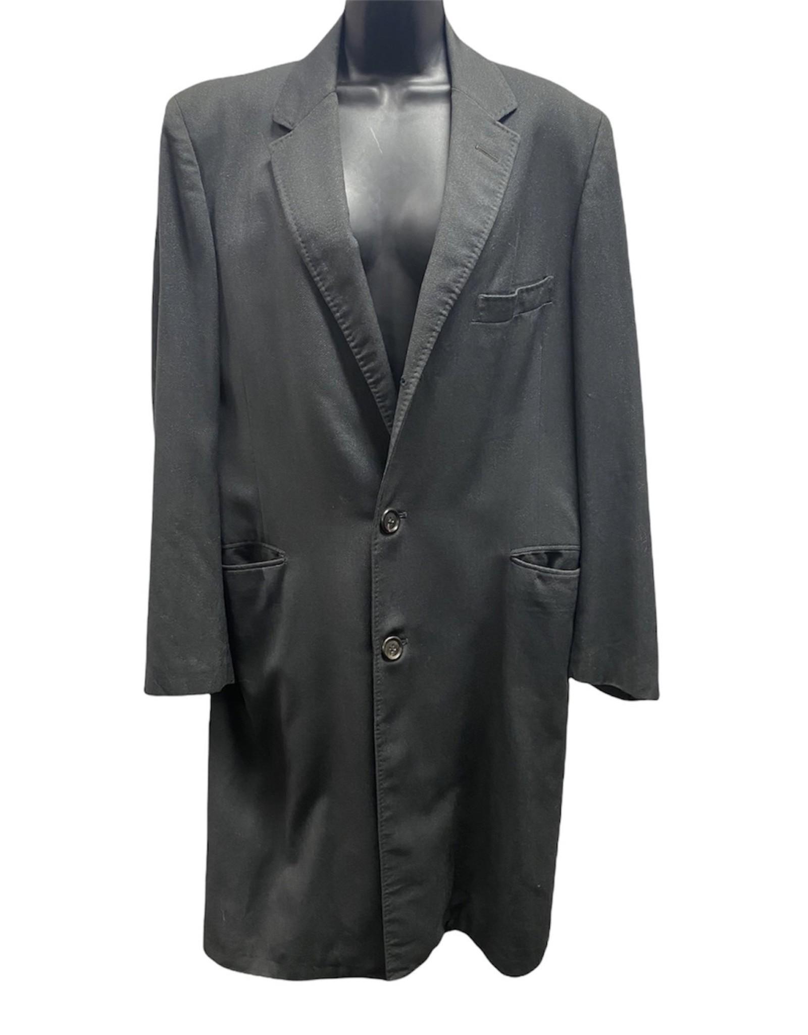 90s long gray blazer/topcoat 42
