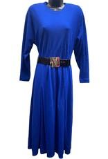 80s blue belted dress sz 4