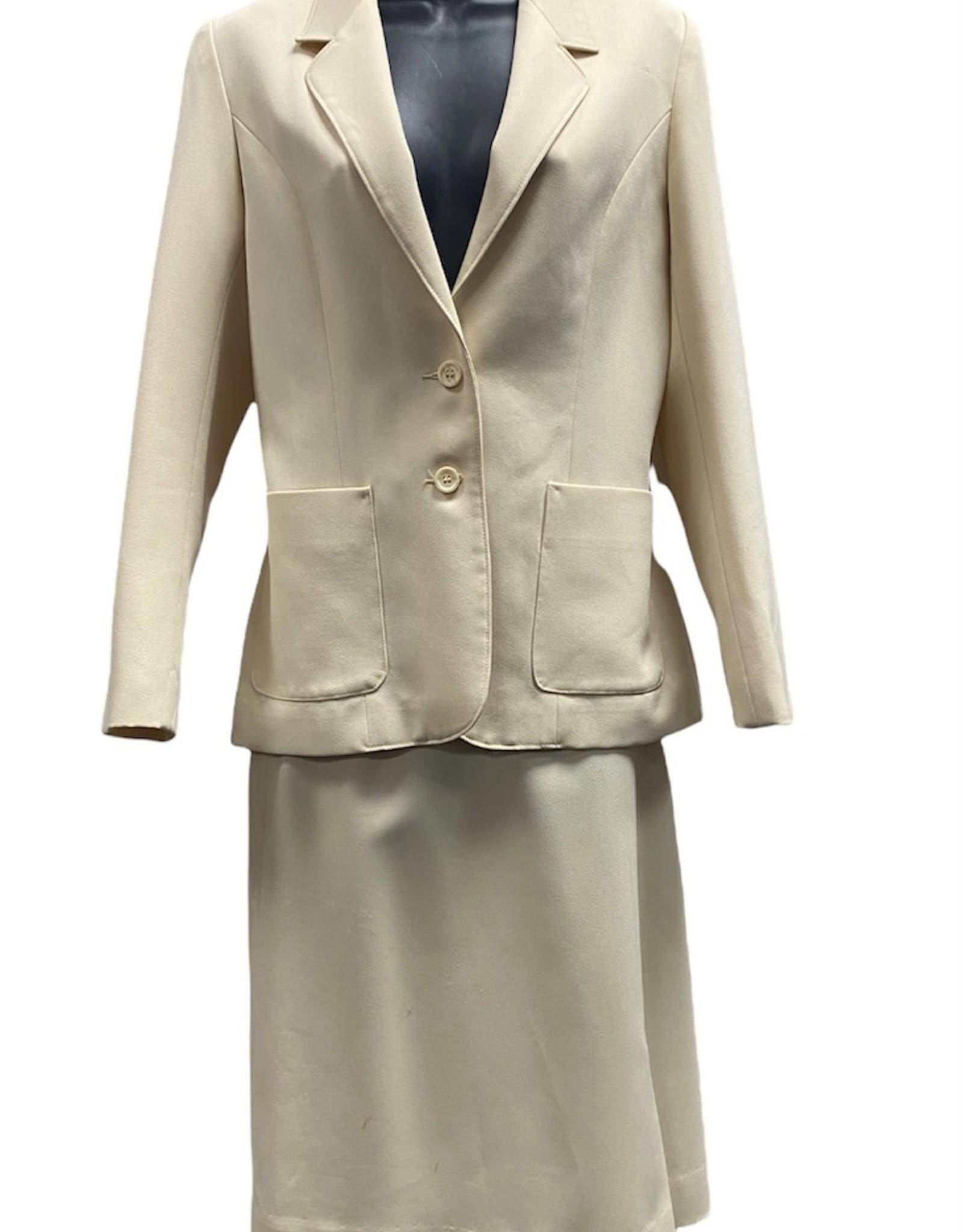 70s cream suit sz 7/8