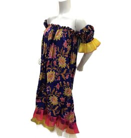 90's floral babydoll with sheer ruffles