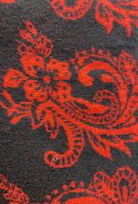 Pashmina 80s red/blk reversible shawl-jacket