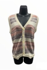 CollAGe man 70s sleeveless stripped sweater vest