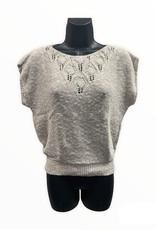 Jessica Scott 80s cream sleeveless knit sweater