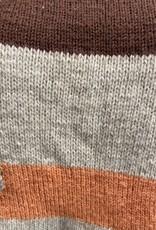 70s handmade brown, beige, orange geo sweater
