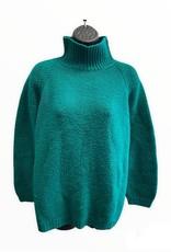 80s large handmade green/blue sweater