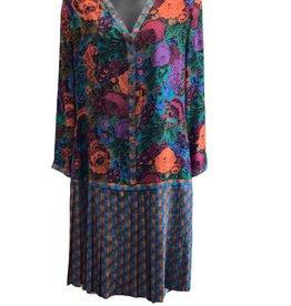 70s drop waist dress fall pastel colors