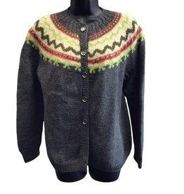 70s handmade knit gray sweater