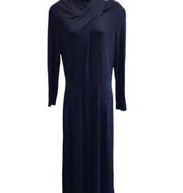 BEAU DAVID 90s navy 14 full length dress