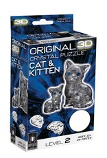 BePuzzled Crystal 3D Cat & Kitten Grey