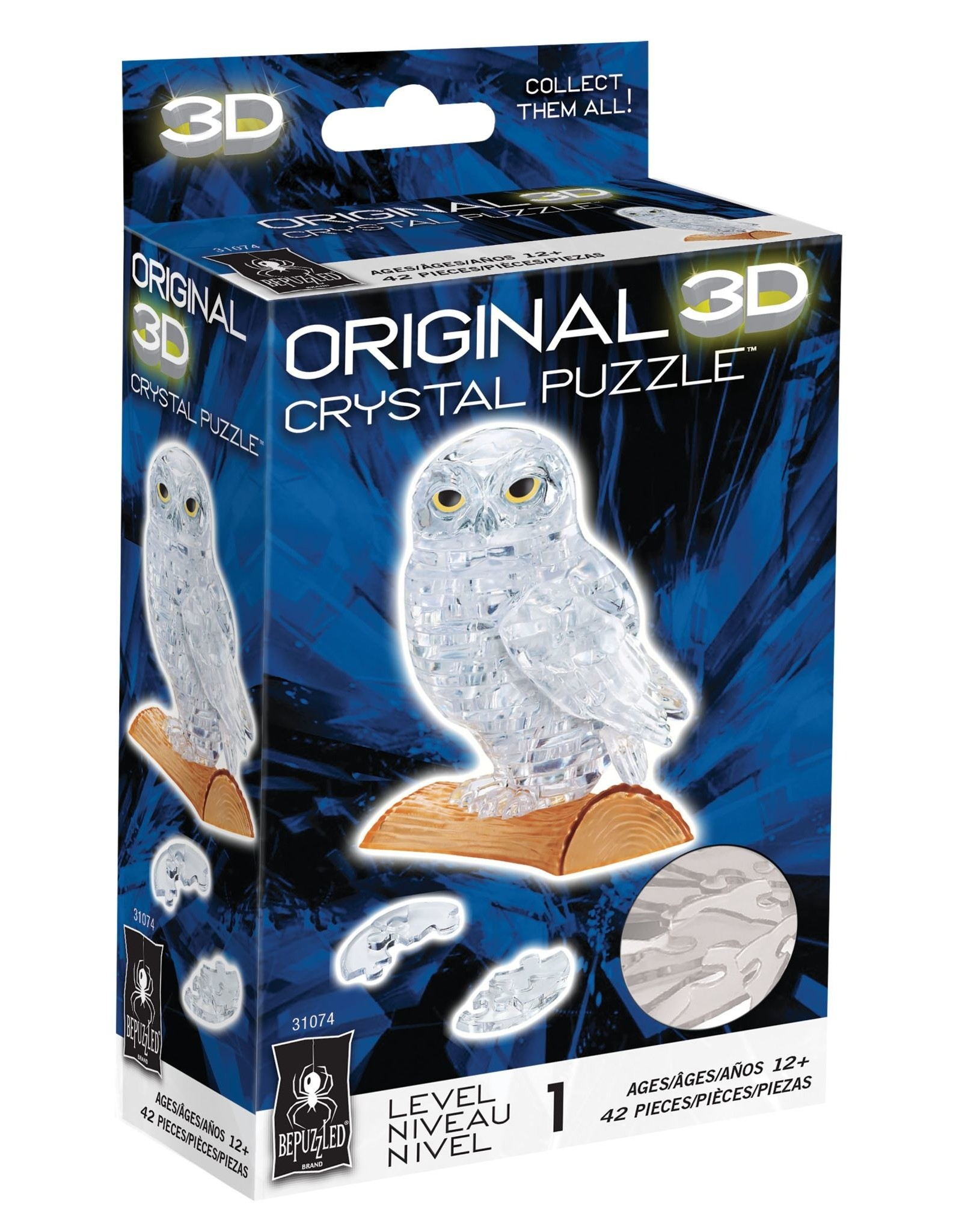 BePuzzled Crystal 3D Owl White