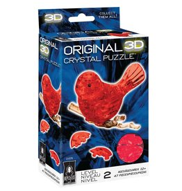 BePuzzled Crystal 3D Bird Red
