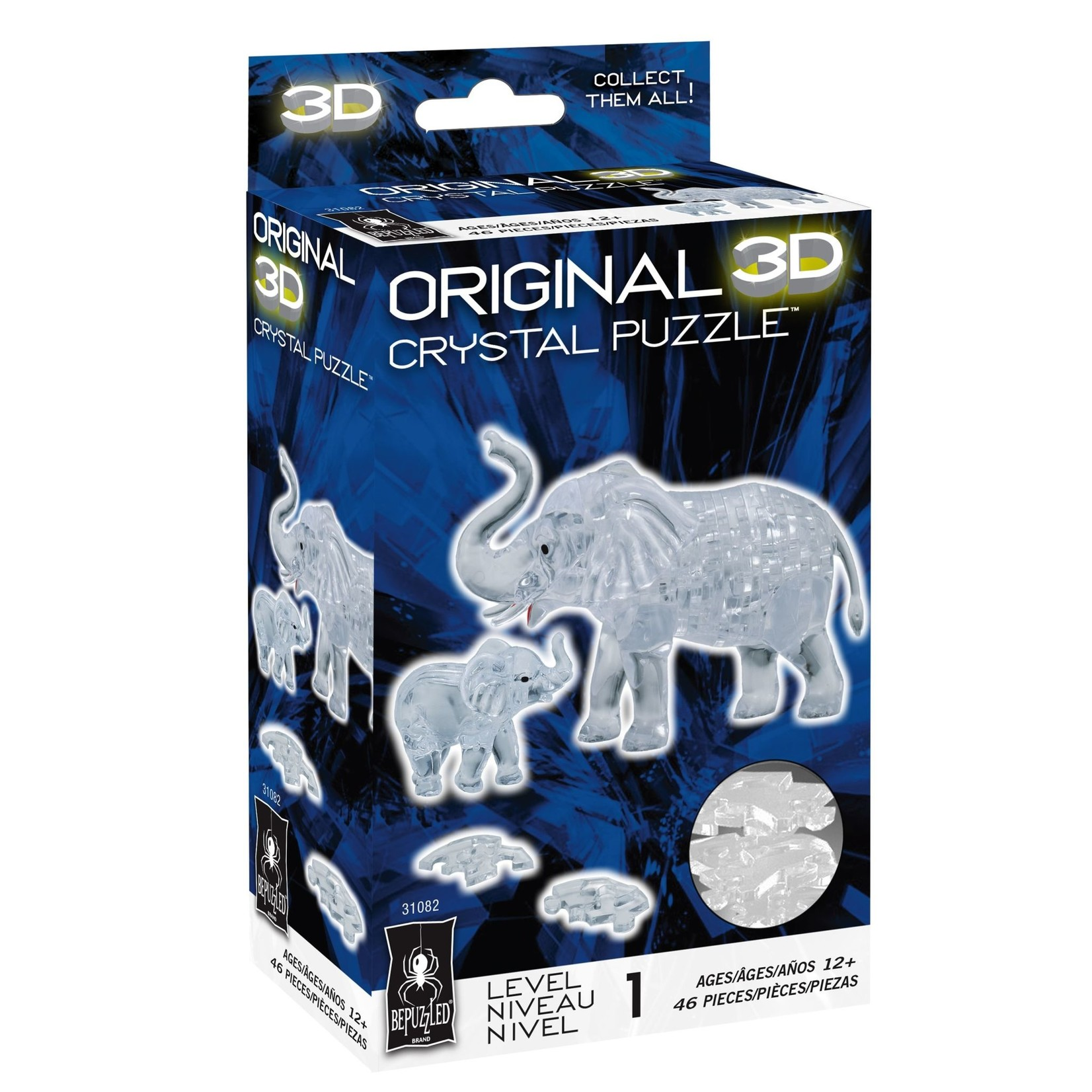 BePuzzled Crystal 3D Elephant and Baby