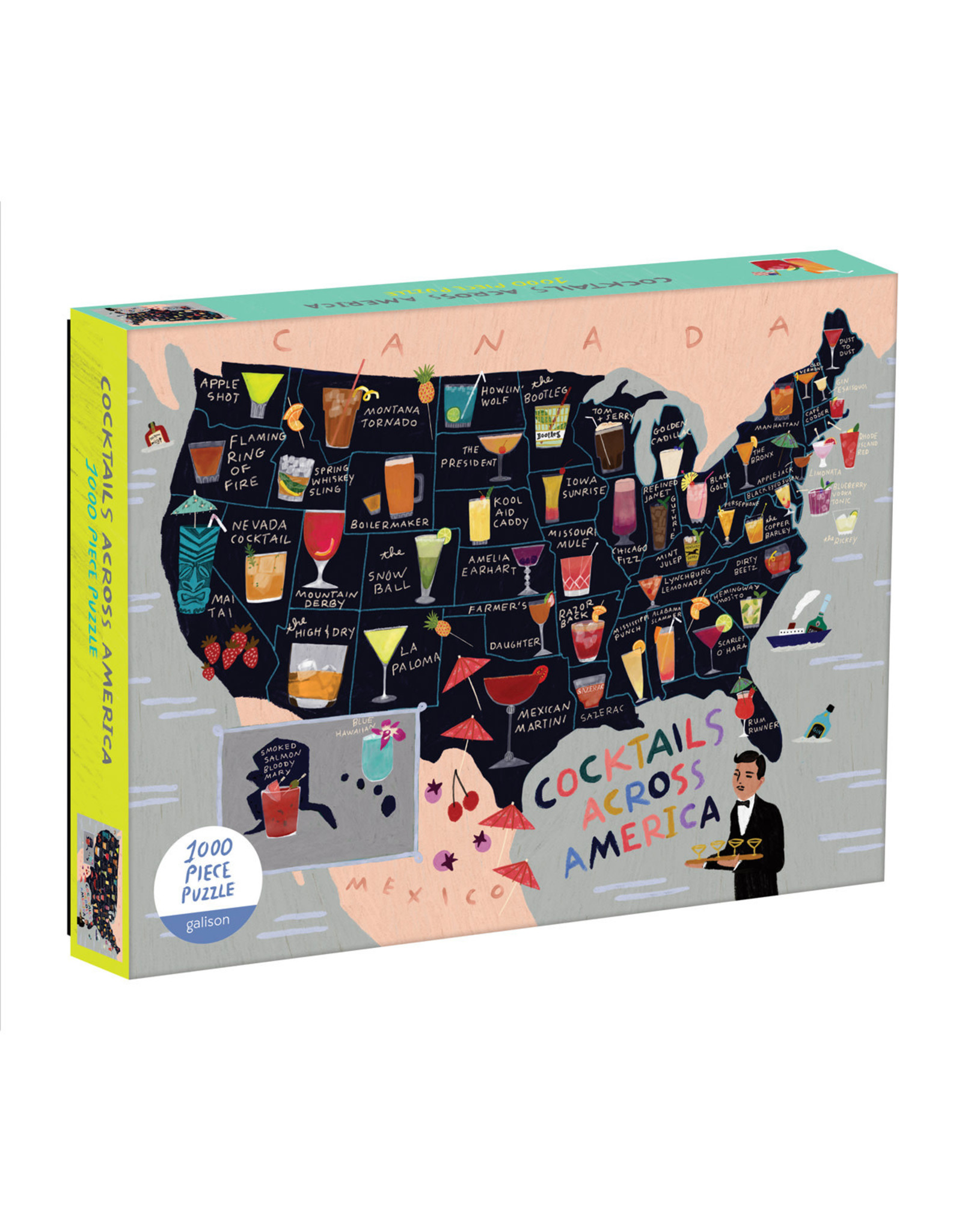 Galison Cocktails Across America 1000pc