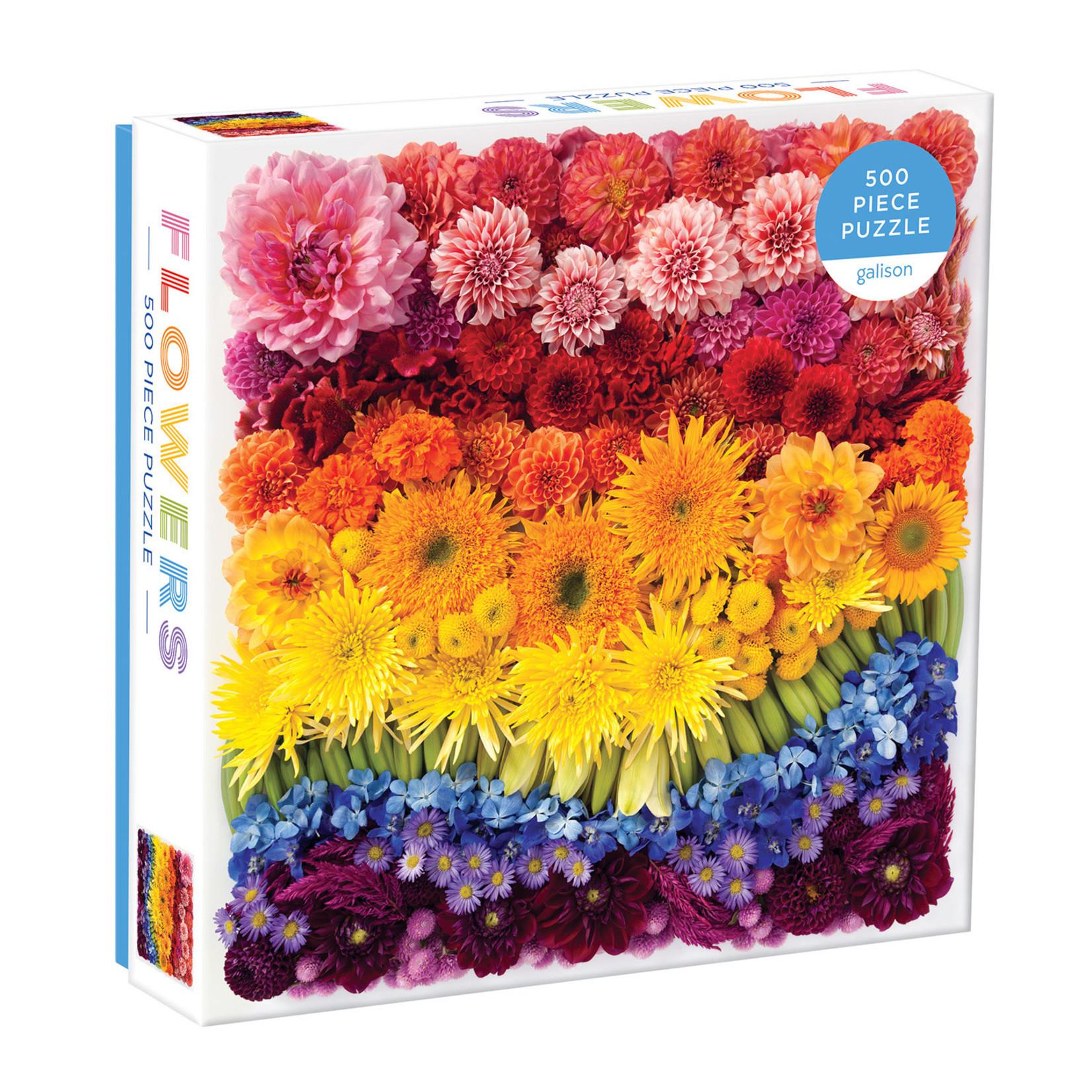 Galison Rainbow Flowers 500pc