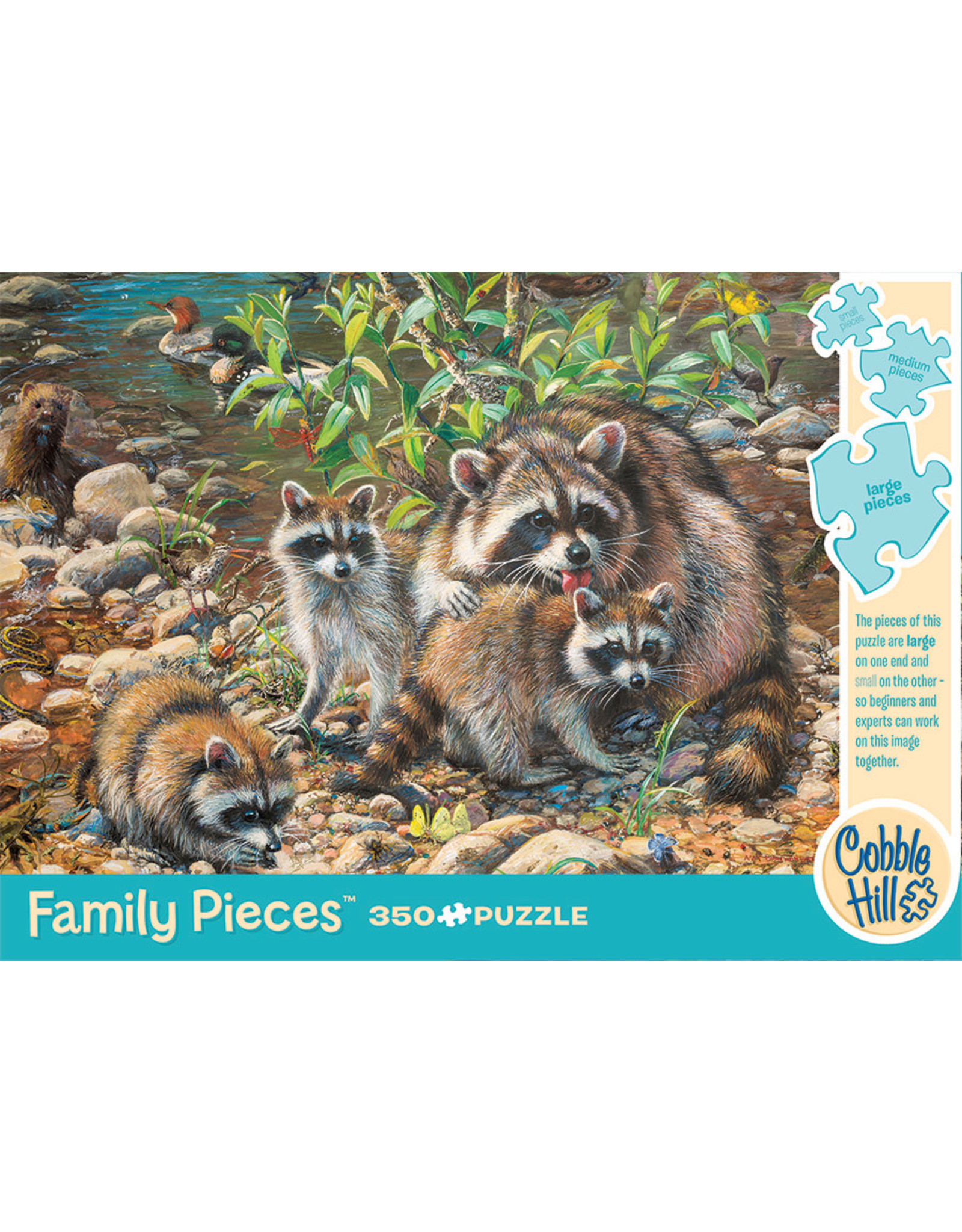 Cobble Hill Racoon Family 350pc
