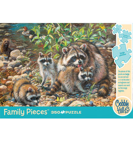Cobble Hill Puzzles Racoon Family 350pc