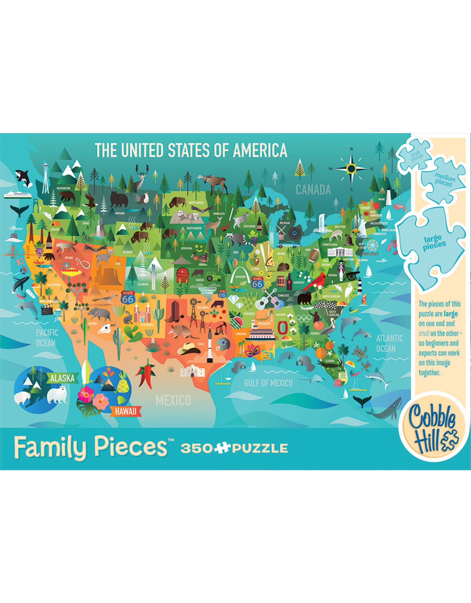 Cobble Hill Puzzles The United States of America 350pc