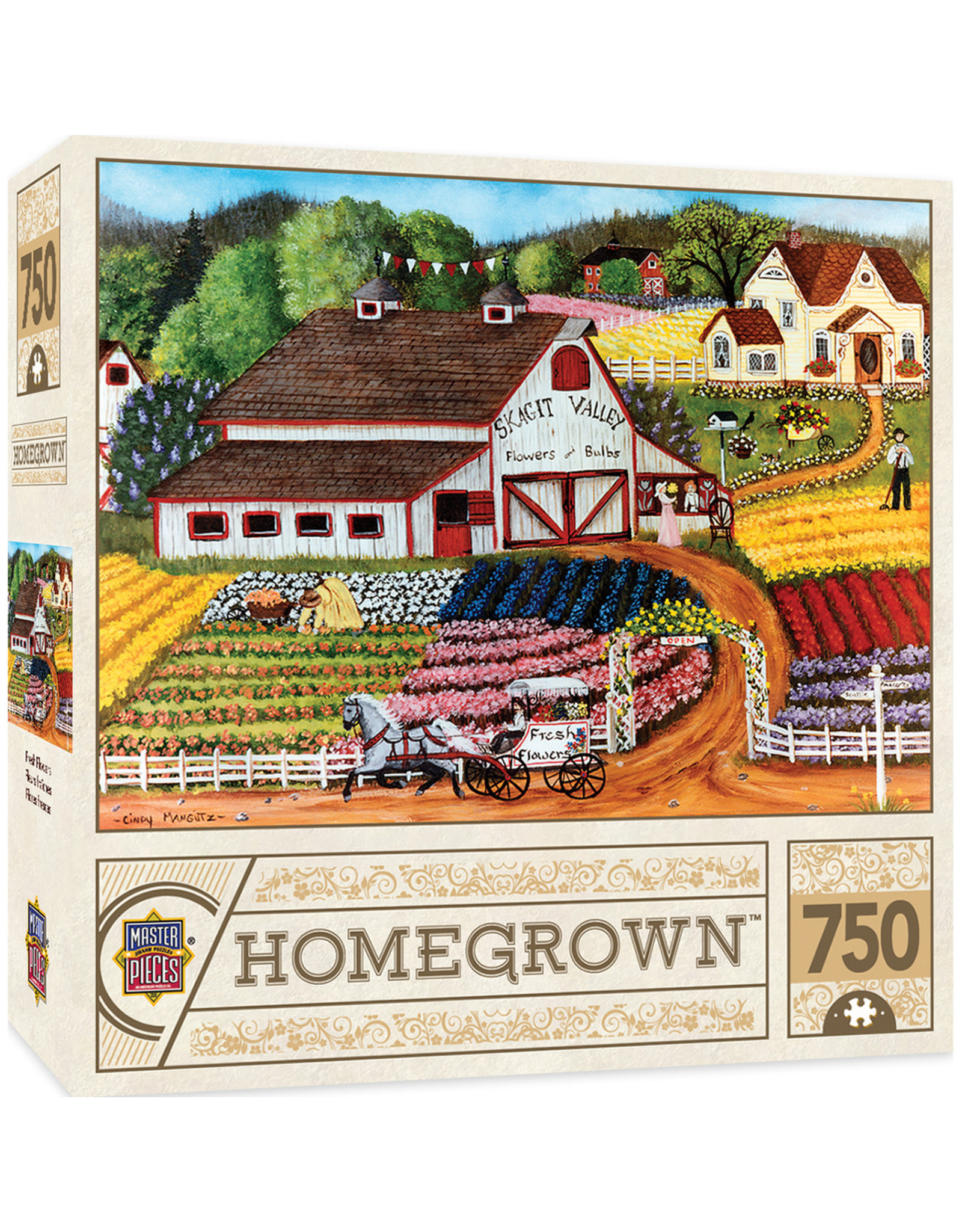 Masterpieces Puzzles Fresh Flowers 750pc