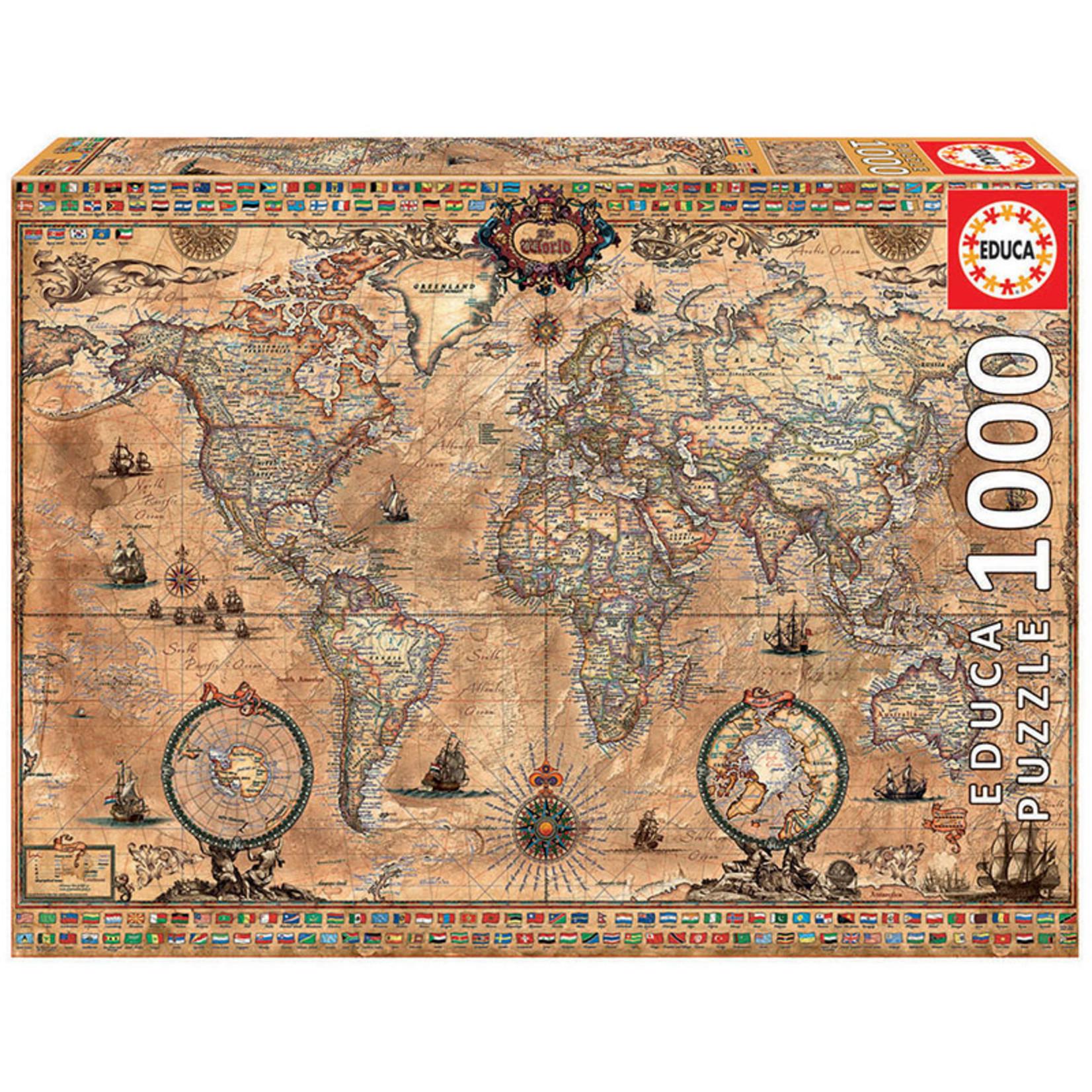 Educa Puzzles Antique World Map 1000pc