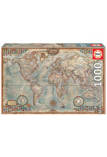 Educa Puzzles Political Map Mini 1000pc
