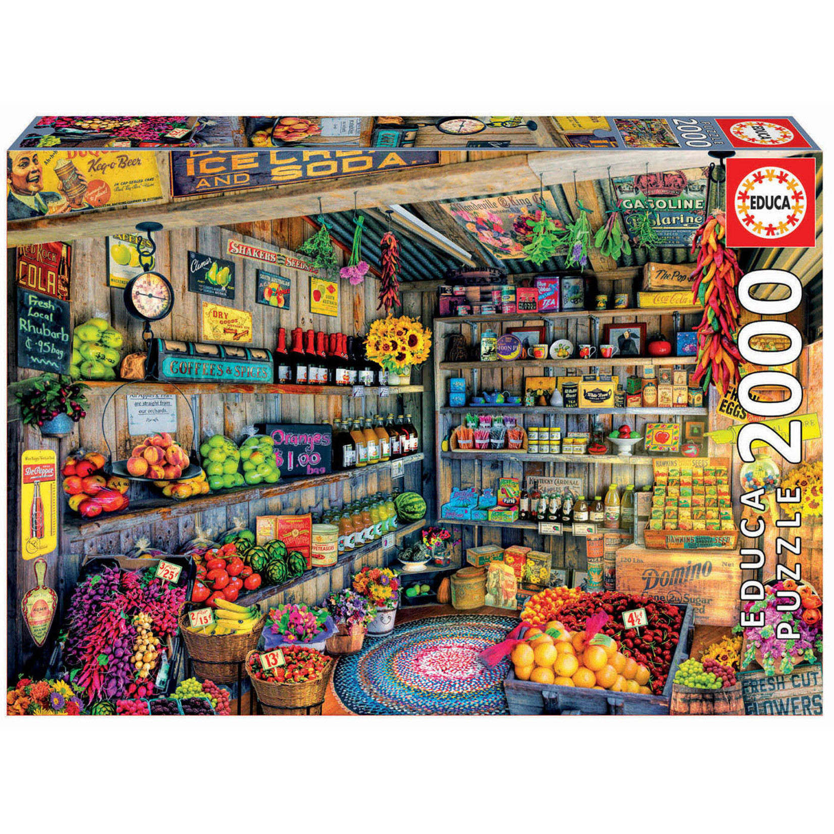 Educa Puzzles The Farmers Market 2000pc
