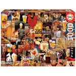 Educa Puzzles Vintage Beer Collage 1000pc