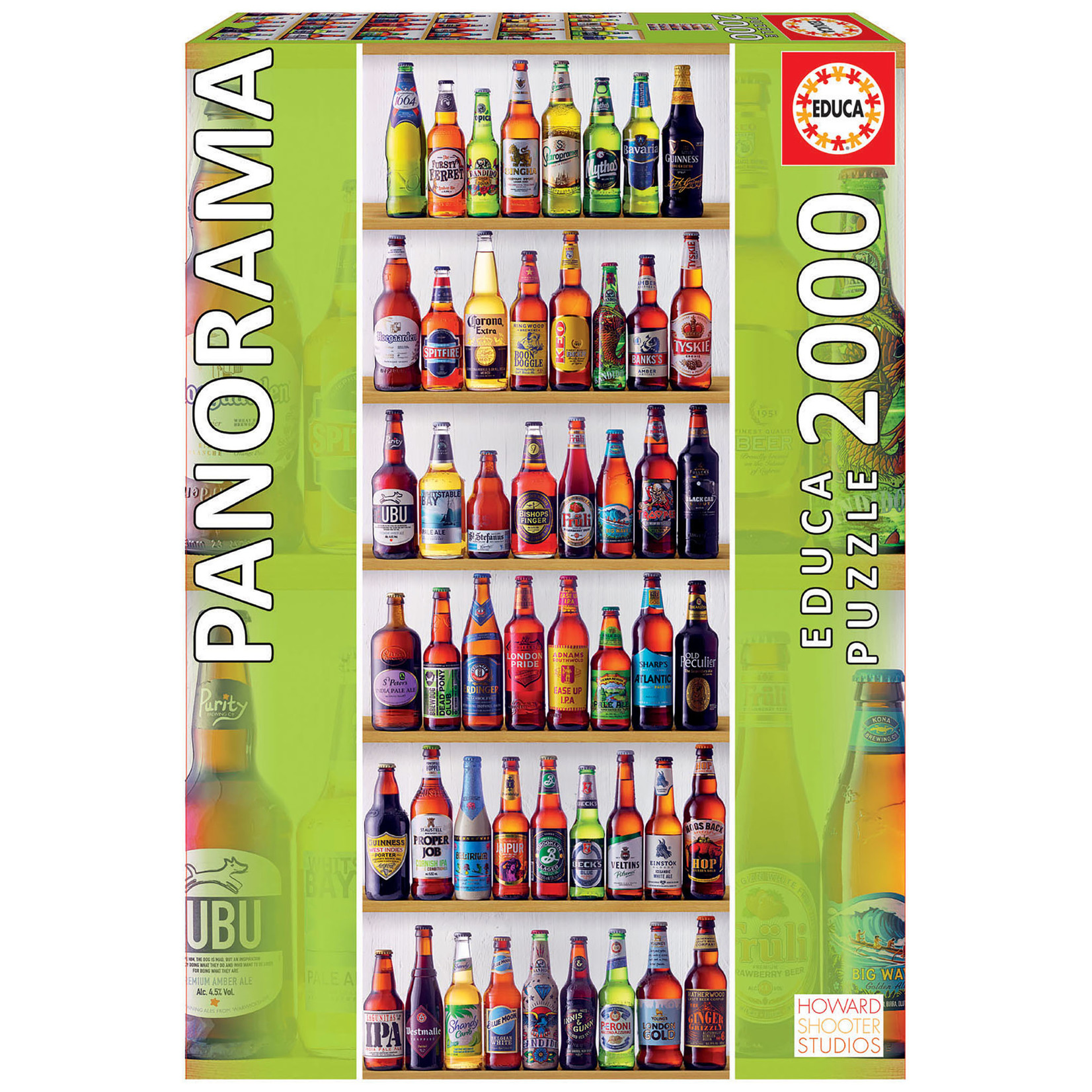 Educa Puzzles World Beers Panoramic 2000pc