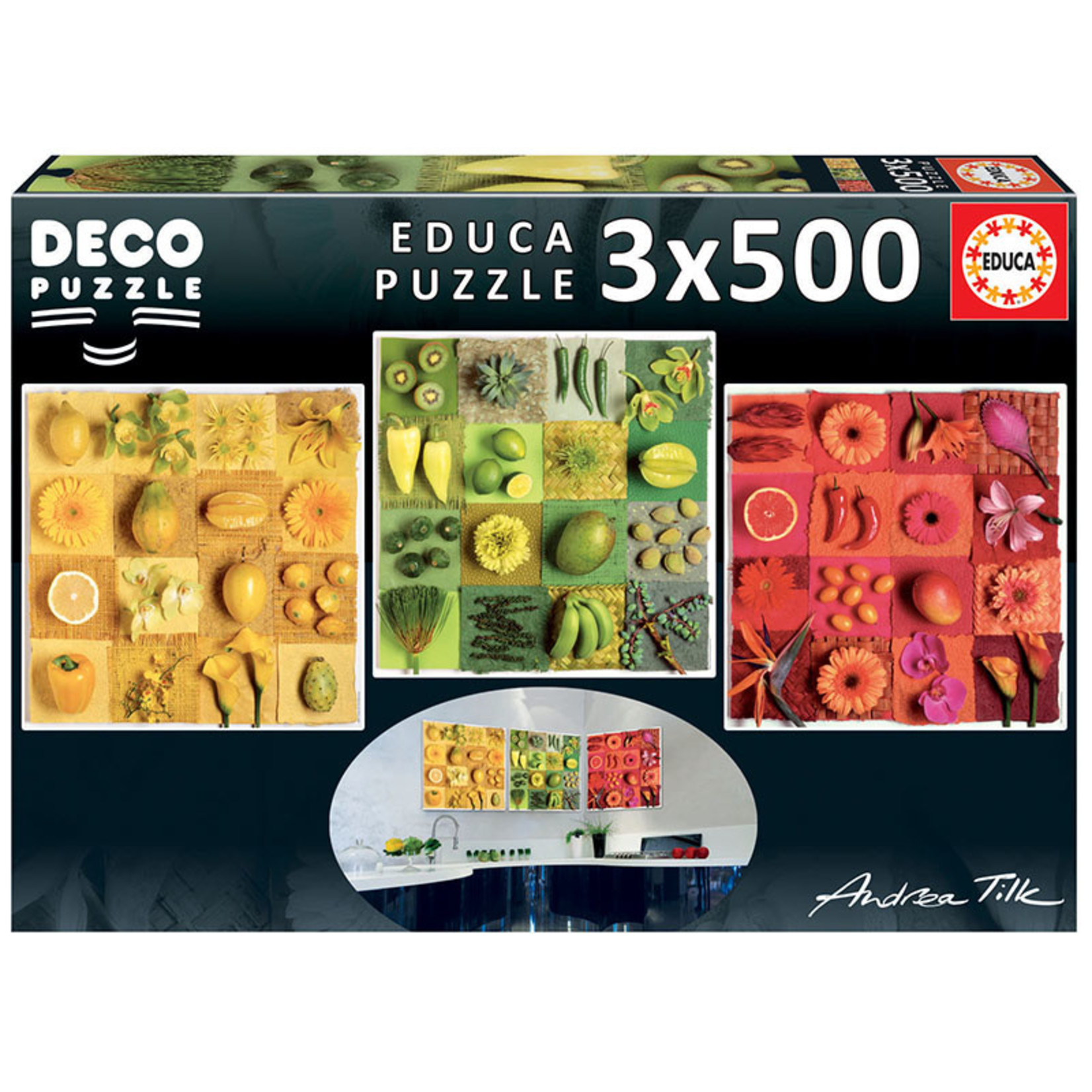 Educa Puzzles Exotic Fruits and Flowers 1500pc