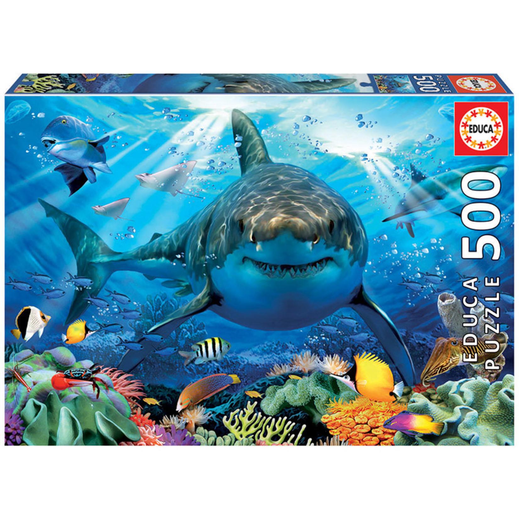 Educa Puzzles Great White Shark 500pc