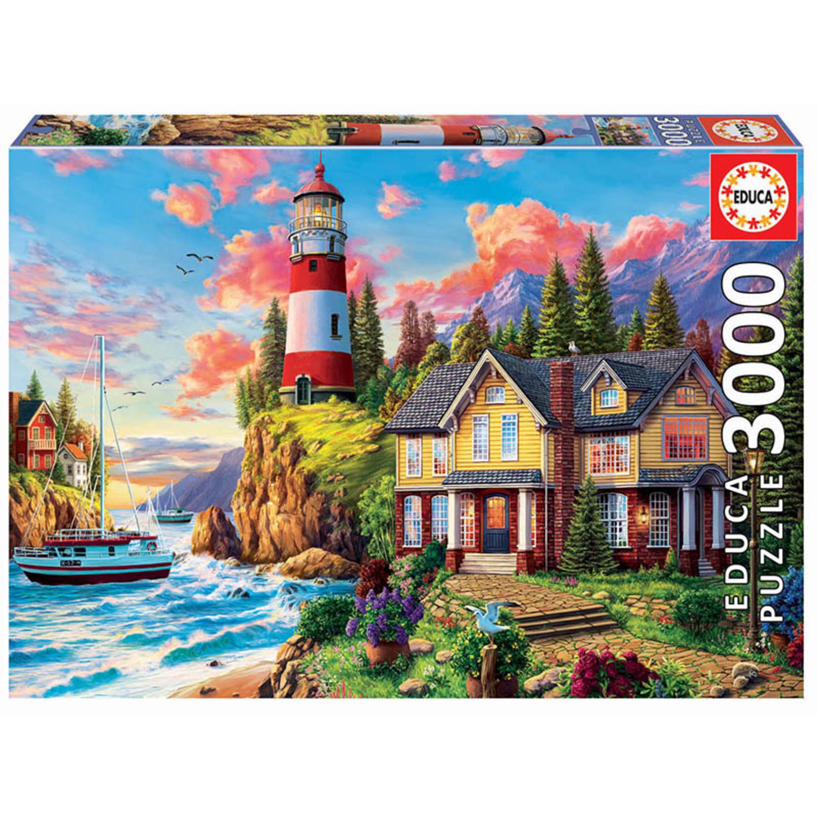 Educa Puzzles Lighthouse Near the Ocean 3000pc