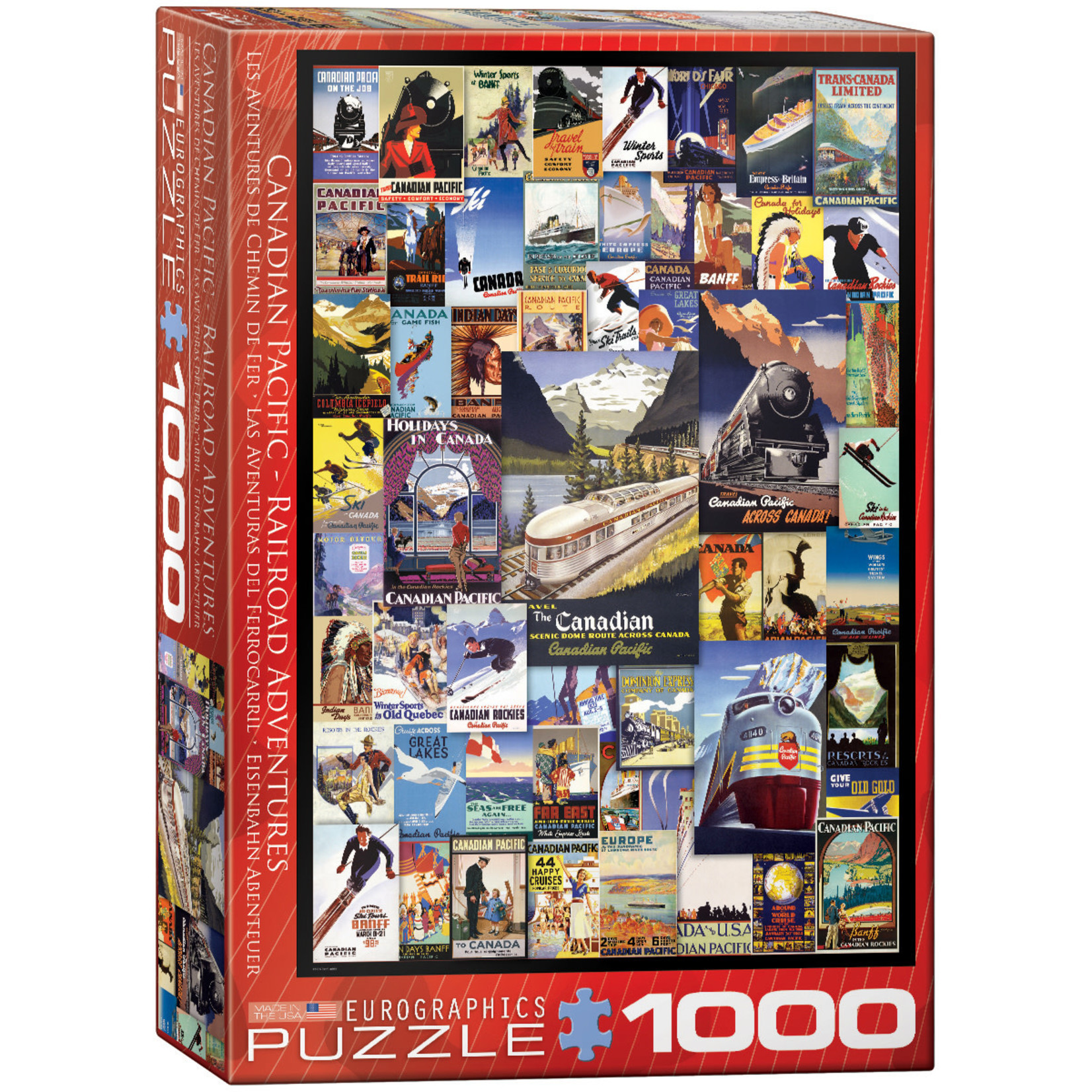 Eurographics Puzzles Railroad Adventure 1000pc