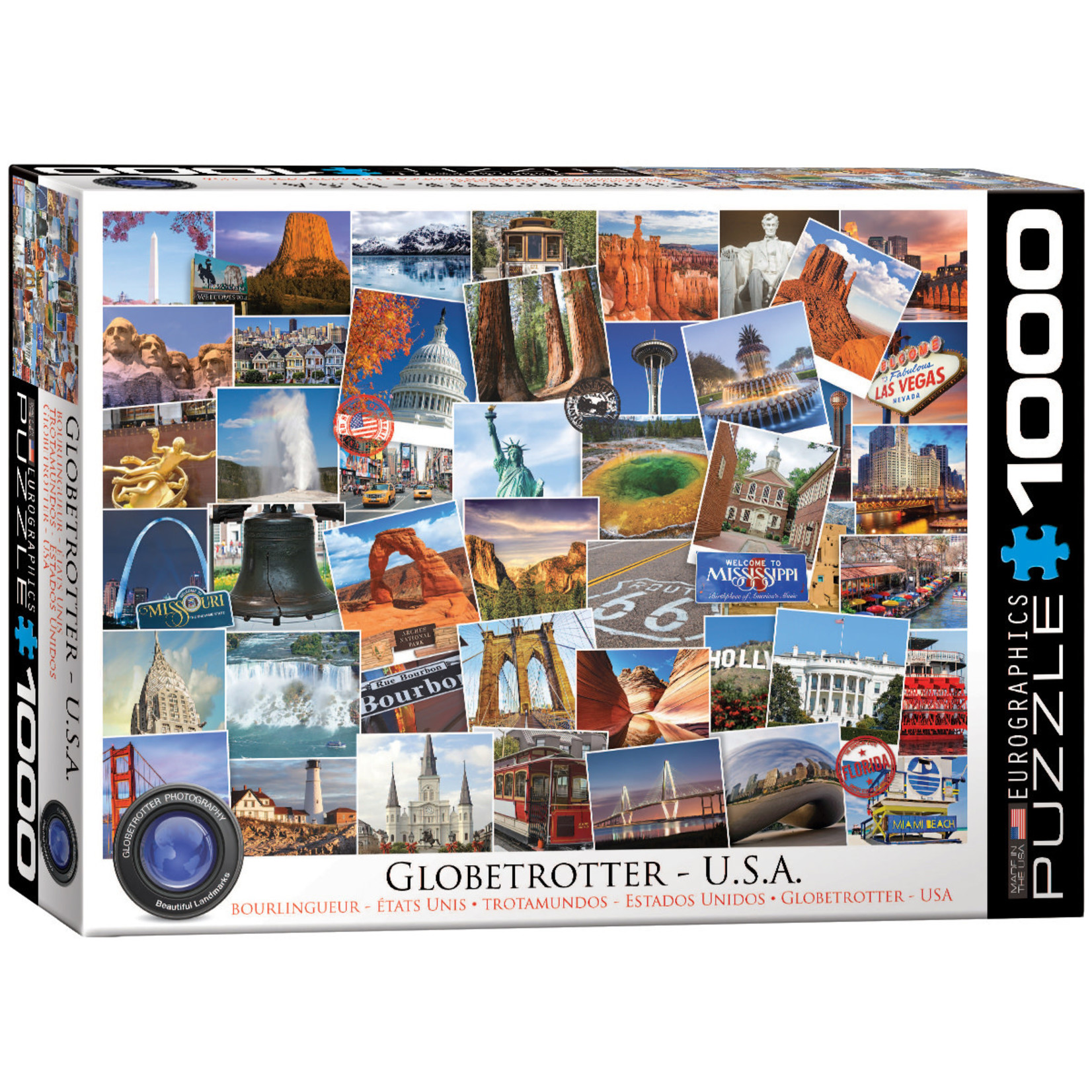 Eurographics Puzzles Globetrotter USA 1000pc