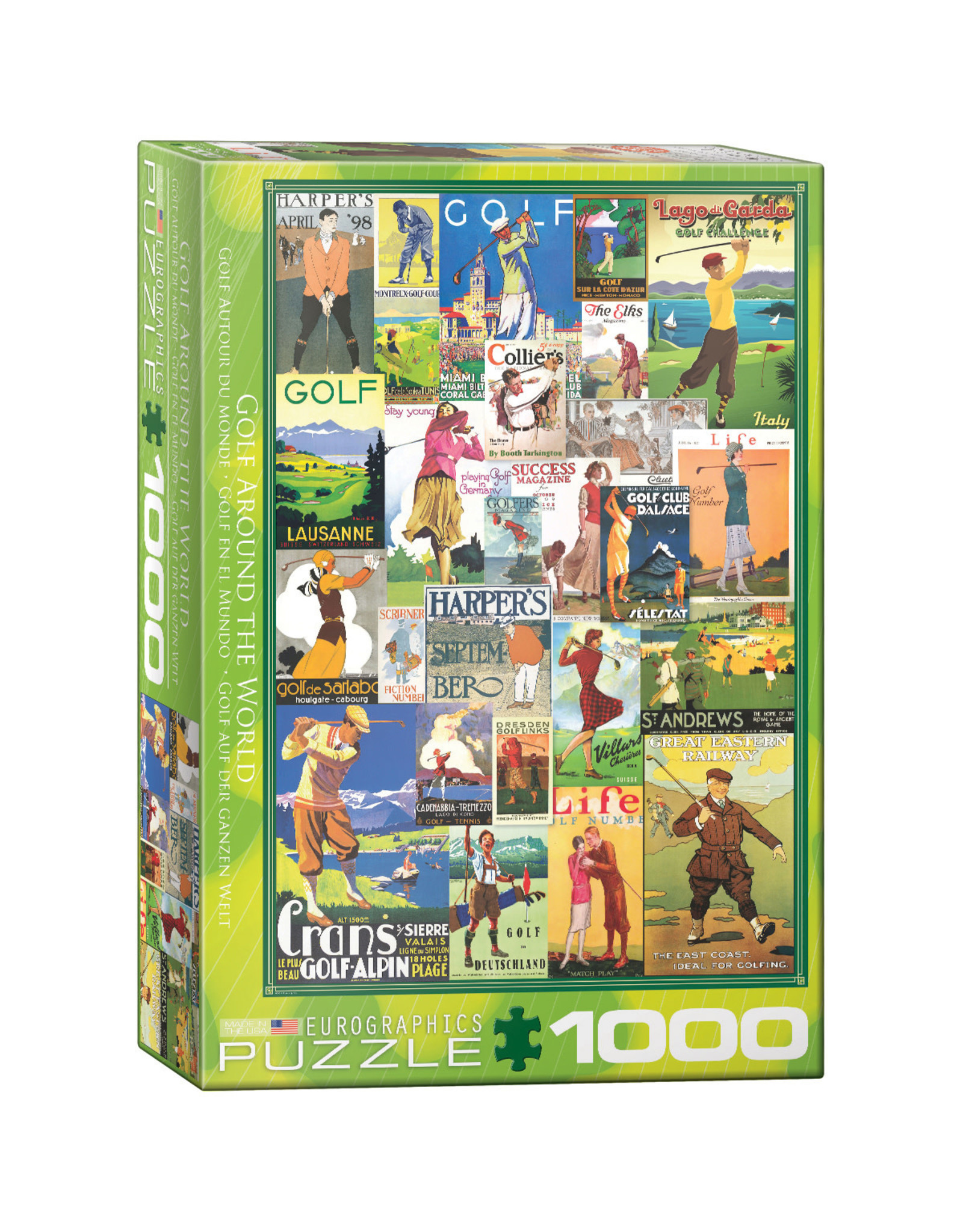 Eurographics Puzzles Golf Around the World 1000pc