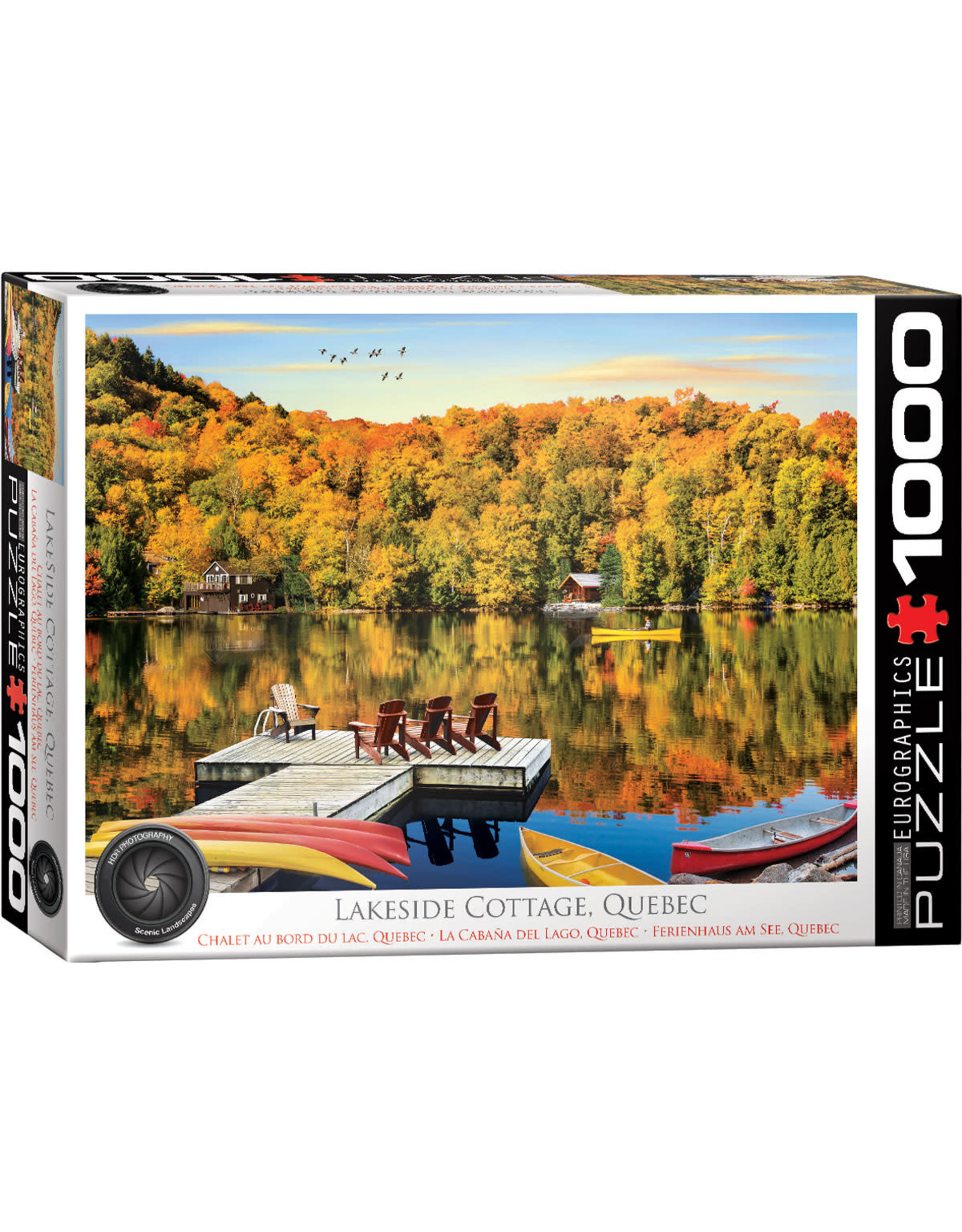 Eurographics Puzzles Lakeside Cottage 1000pc