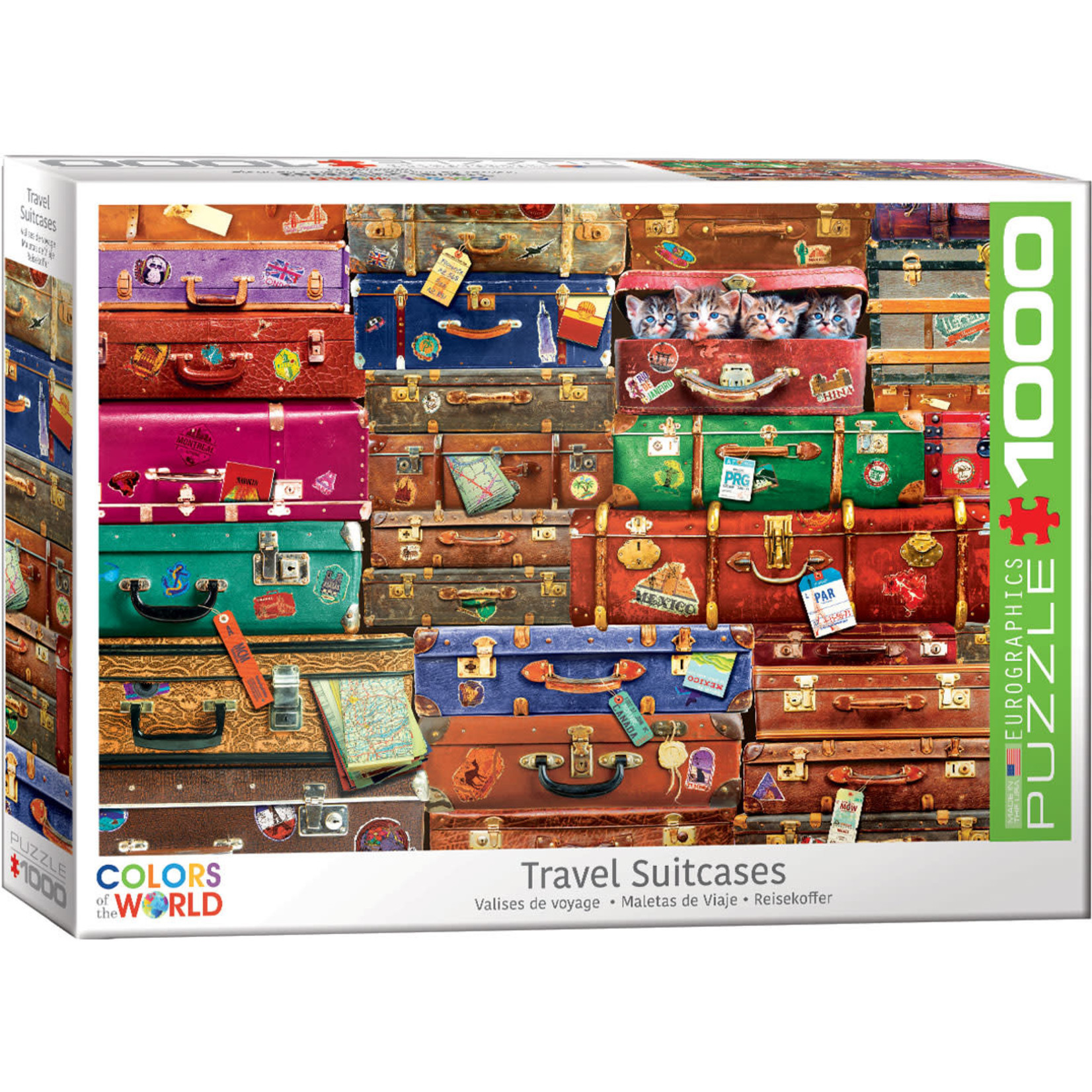 Eurographics Puzzles Travel Suitcases 1000pc