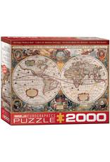 Eurographics Puzzles Antique World Map 2000pc