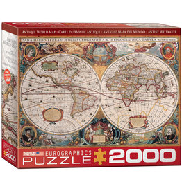 Eurographics Puzzles Antique World Map 2000pc