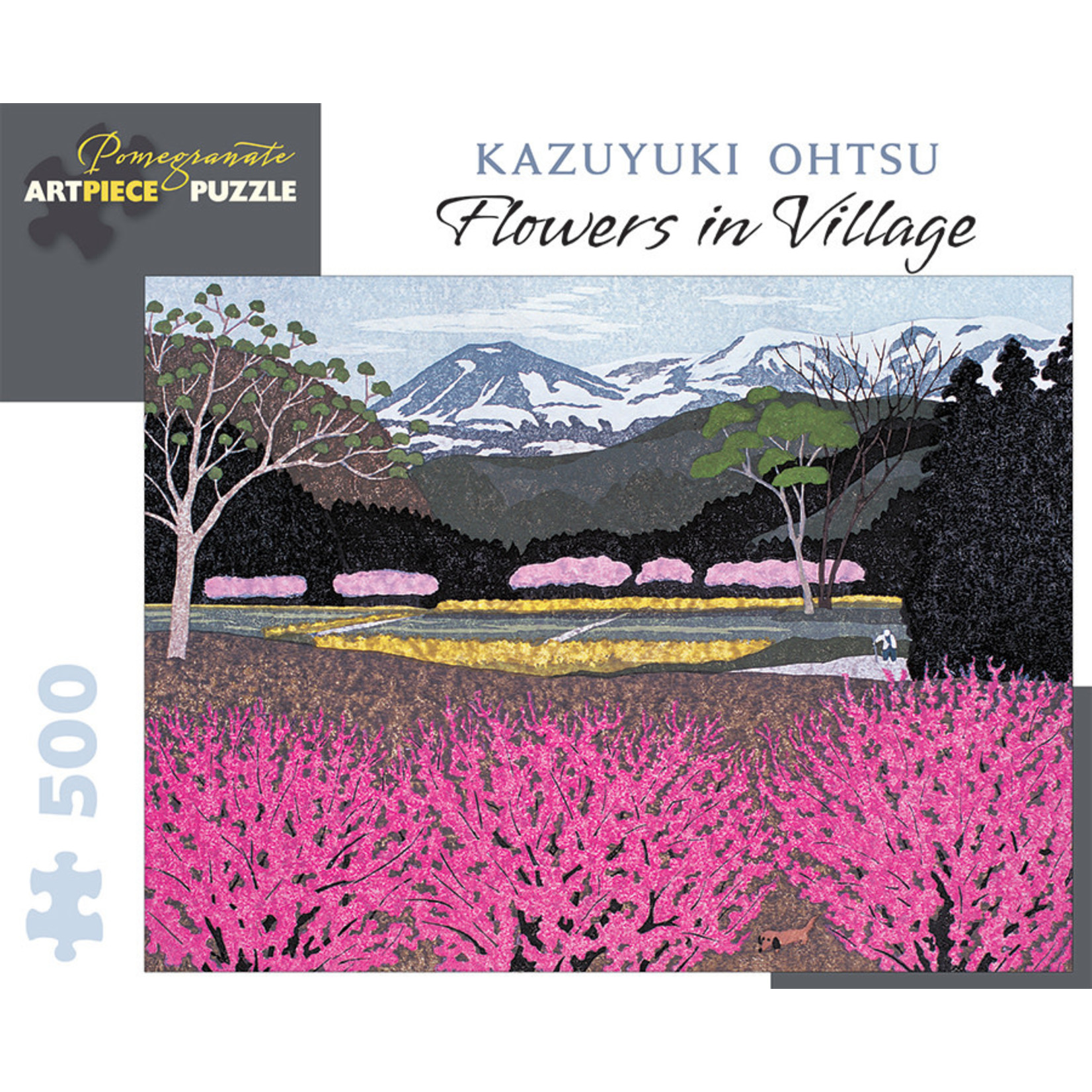 Pomegranate Puzzles Flowers in Village 500pc