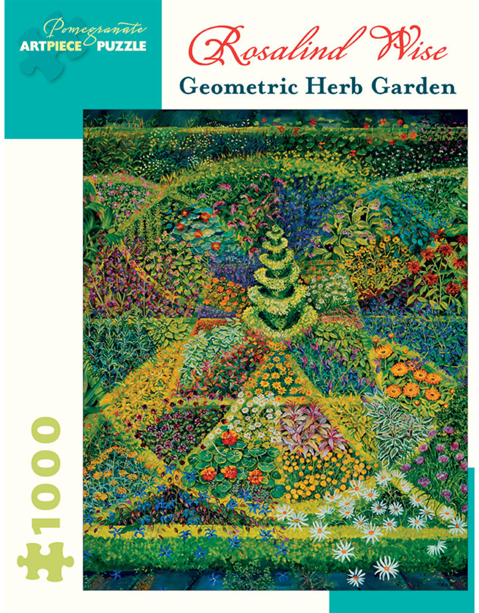 Pomegranate Puzzles Geometric Herb Garden 1000pc
